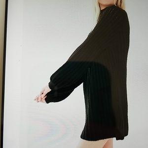 Boho tunic  mock neck sweater